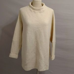 Free People Boxy Baggy Neutral Cream Sweater Tunic